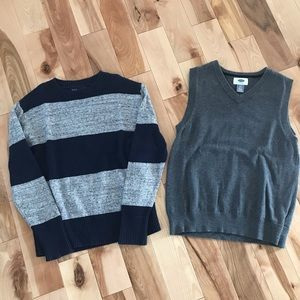 2 for $20 Gap boys sweater and old navy vest